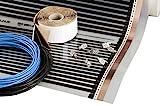 Heating floor - 3m2 Fußbodenheizung Set Elektrische Infrarot Heizfolie für Laminat & Parkett 160W/m2