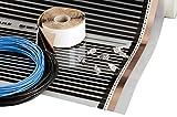 Heating floor - 9m2 Fußbodenheizung Set Elektrische Infrarot Heizfolie für Laminat & Parkett 220W/m2