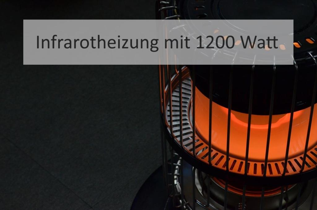Infrarotheizung mit 1200 Watt