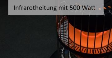 Infrarotheizung mit 500 Watt